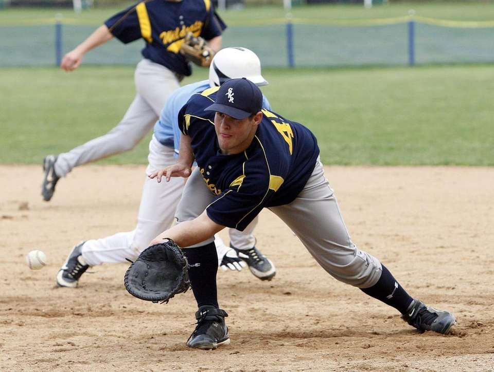Shoreham-Wading River first baseman Jim Luppens in the