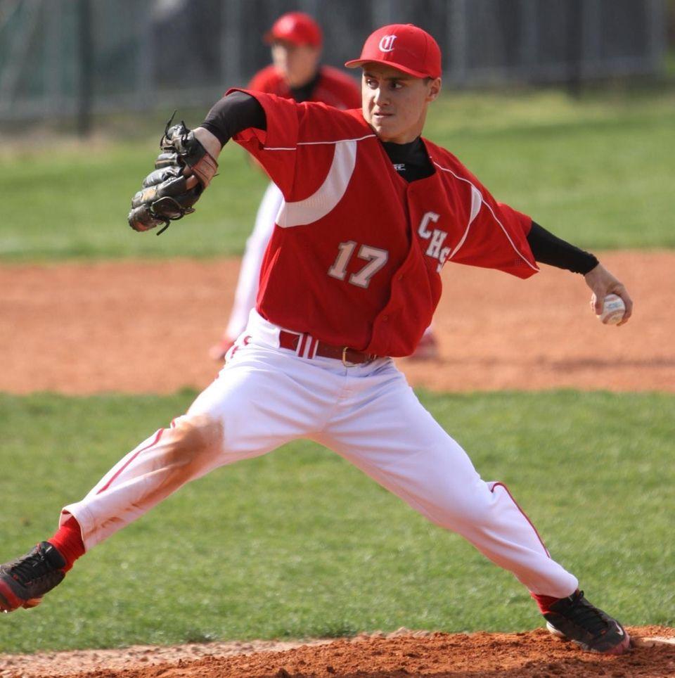 Connetquot starting pitcher Jim Guiliano, #17. (April 28,