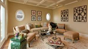 This family room in Westhampton is just for