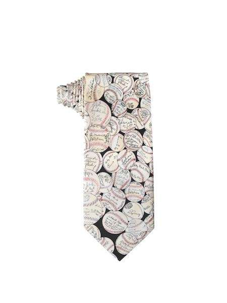 This silk baseball tie will have your father