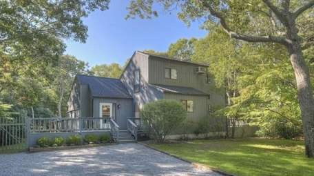 This East Hampton traditional, with three bedrooms and