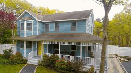 This Hampton Bays property is adjacent to Hubbard