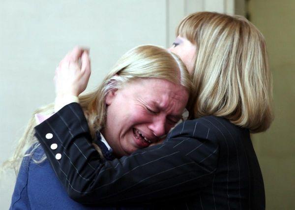 Sharon Dorsett, mother of Jo'Anna Bird, reacts to