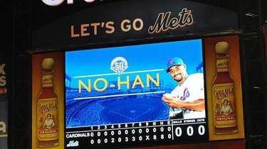 On June 1, 2012, Johan Santana threw the
