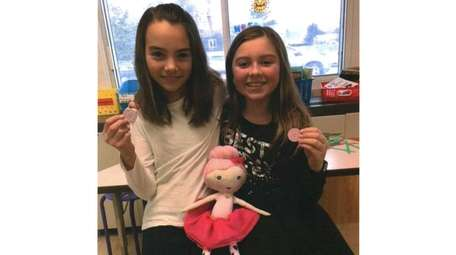 Kidsday reporters Gianna Calise, left, and Isabella Canberg