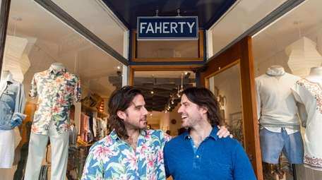 Mike, left, and Alex Faherty, twin brothers who