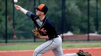 East Rockaway starting pitcher Stefano Cilluffo (2) delivers