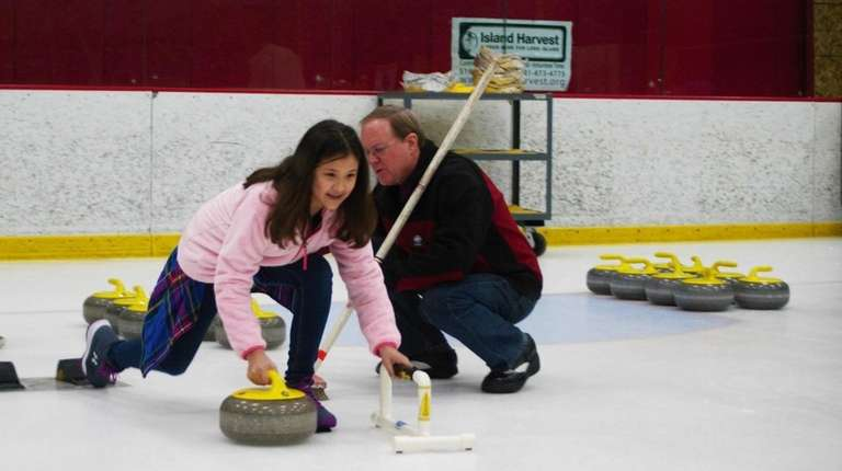 Holtsville's Isabella Iadanza, 11, competes with the Long