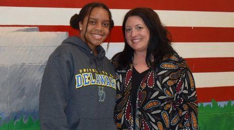 Lauren Ward, pictured with dance teacher Kristin Martine,
