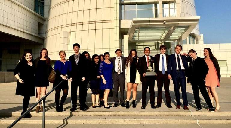 Huntington High School's mock trial team was this