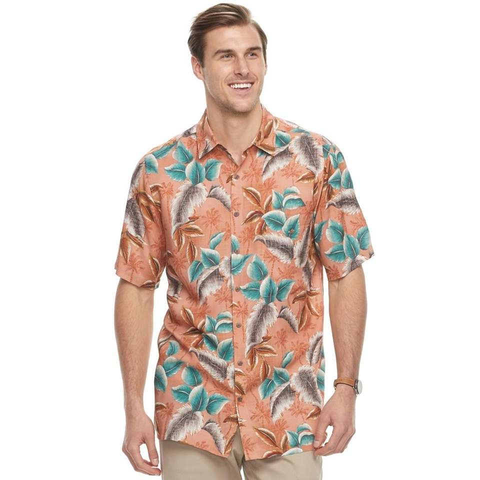 Embrace the island life in this tropical button-down;