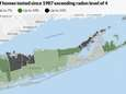 Radon levels in Long Island homes