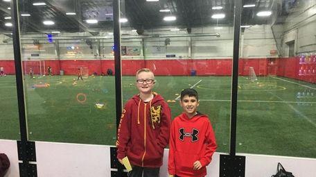 Kidsday reporters Ryan Damers, left, and Raymond Trezza
