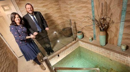 Rabbi Berel Sasonkin and his wife, Chaya, near