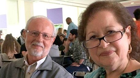 Sharon Korbel with her husband, News 12 Long