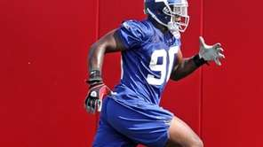 Jason Pierre-Paul at Giants minicamp. (April 30, 2010)