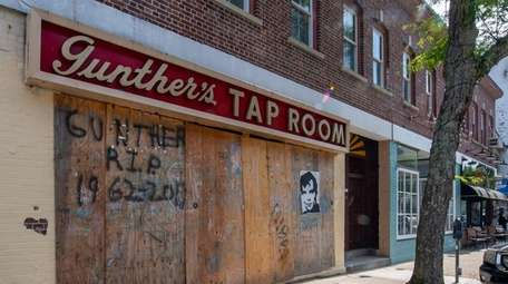 Gunther's Tap Room, seen Friday, burned down a