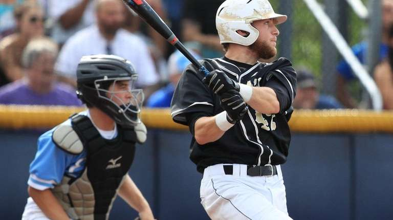 Wantagh's Patrick Willix hits a sacrifice fly against