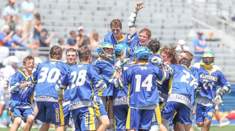 Mattituck celebrates its win over Oyster Bay in