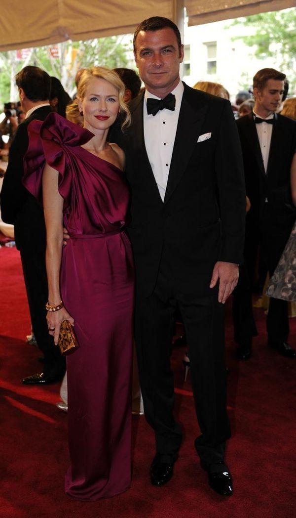 Actors Naomi Watts, left, and Liev Schreiber attend
