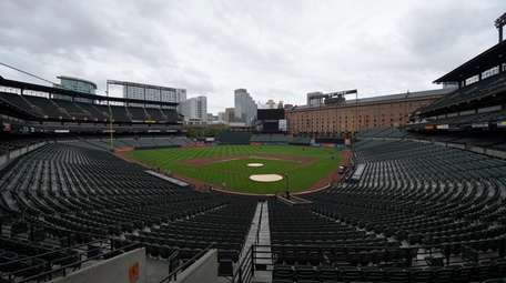 A view of Oriole Park at Camden Yards,