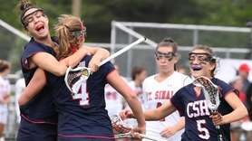 Cold Spring Harbor midfielder Emily Weld, attacker Katherine