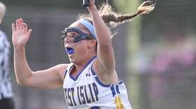 West Islip's Samantha Blair celebrates after scoring the