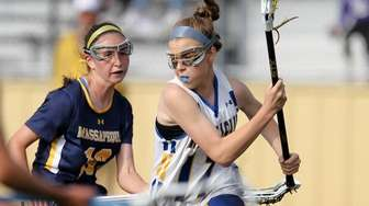 West Islip's Jaden Hampel moves the ball while
