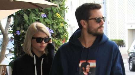 Sofia Richie and Scott Disick walking in Los