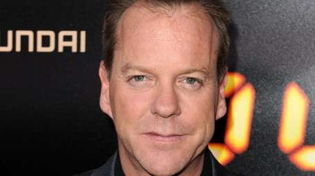 Actor Kiefer Sutherland arrives at Fox's