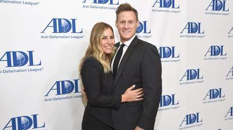 Tracey Kurland and Trevor Engelson attend the Anti-Defamation