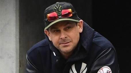 Yankees manager Aaron Boone at Yankee Stadium on