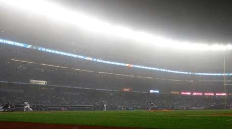 The fifth inning at Yankee Stadium on April