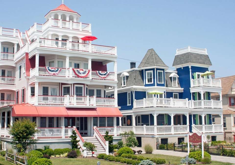 Colorful Victorian homes line Beach Avenue in Cape