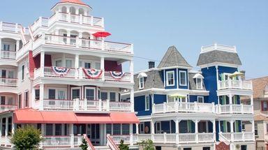 Colorful Victorian homes line Beach Avenue in Cape