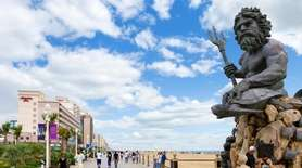 Paul DiPasquale's King Neptune statue on the boardwalk