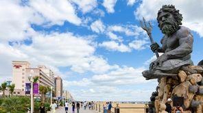Paul DiPasquale's King Neptune statue on the boardwalk