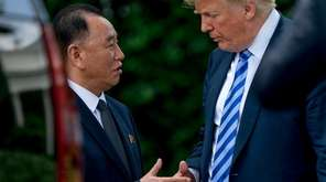 President Donald Trump and North Korea's Kim Yong