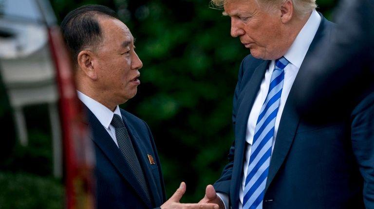 President Donald Trump and North Korea's Kim Yong