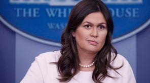 White House press secretary Sarah Huckabee Sanders responds