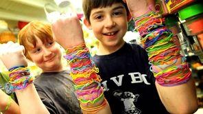Jeremy King, 9, and Quinn Blackburn, 9, show