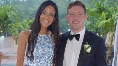 Ellen Byrnes, of Port Washington, and her date,