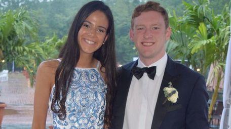 Ellen Byrnes, of Port Washington, and her date,