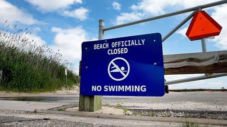Sayville Beach is closed on Monday after the
