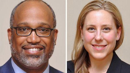 Democratic congressional candidates DuWayne Gregory and Liuba Grechen
