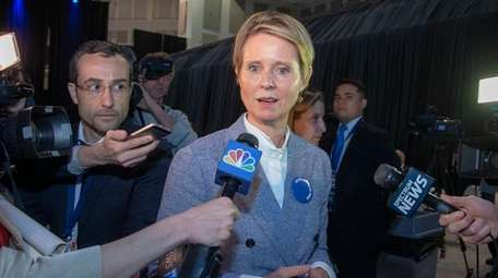 Cynthia Nixon attends the opening day of the