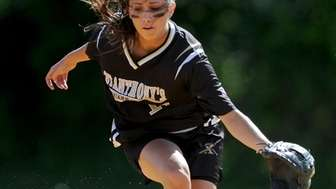 St. Anthony's High School shortstop #11 Michelle Carbone