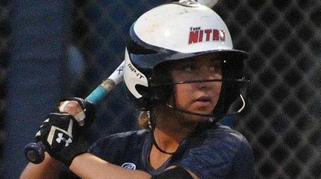 Lindenhurst's Skyler Cirillo gets set to bat in