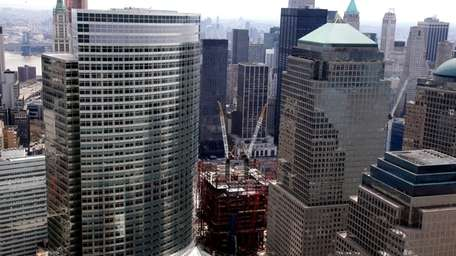 Aerial view of Ground Zero (April 5 ,