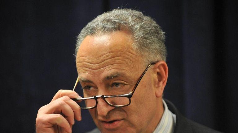 New York Senator Chuck Schumer has urged federal